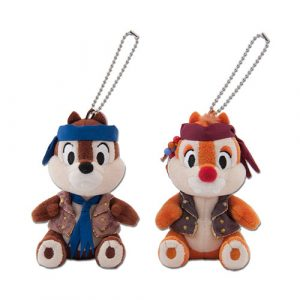 Chip and Dale Plush Badge Set Tokyo Disney Resort Summer Merchandise