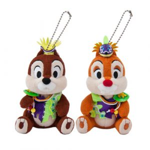 Chip and Dale Plush Badges Donald's Hot Jungle Summer