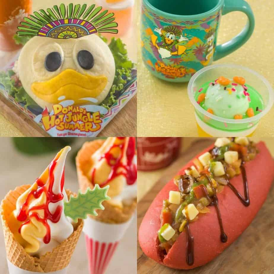 Donald's Hot Jungle Summer Food & Snack Menu at Tokyo Disneyland