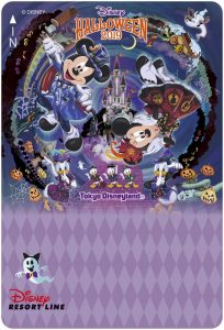 Resort Line Ticket Tokyo Disneyland Halloween 2019