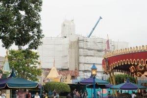 Hong Kong Disneyland Castle Construction Summer-13