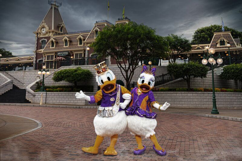 Donald & Daisy Halloween Costumes at Hong Kong Disneyland