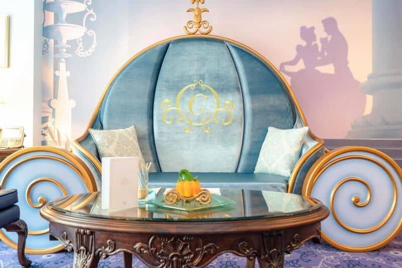 Kingdom Club Cinderella Suite Pumpkin Carriage Couch