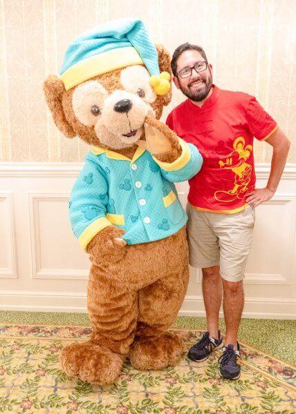 Kingdom Club Pajama Duffy Greeting Hong Kong Disneyland