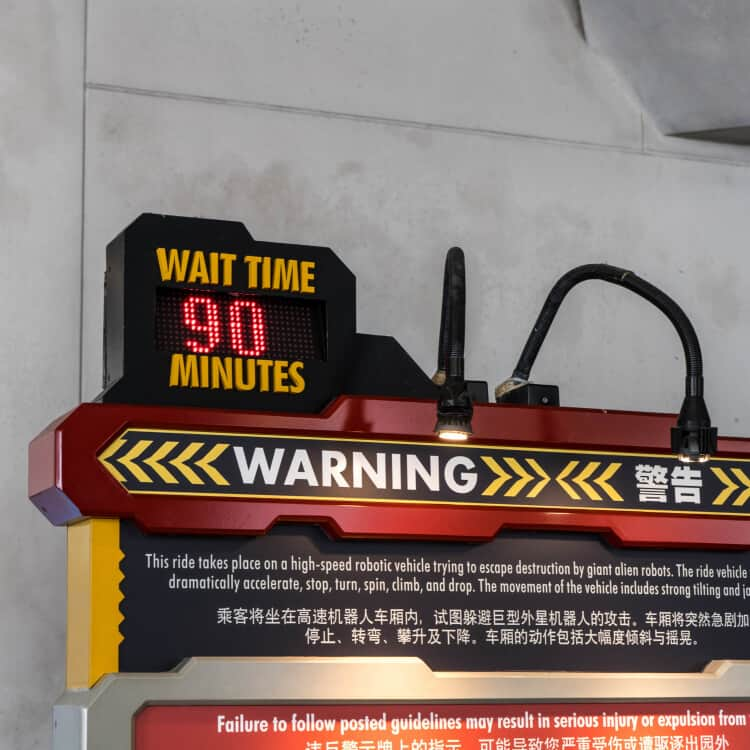 Transformers the Ride Wait Time