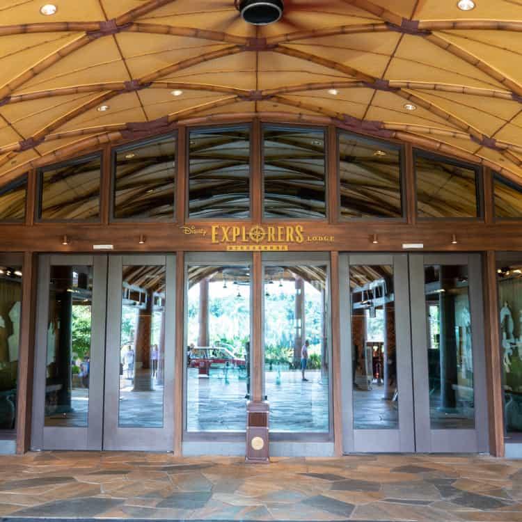 Disney Explorers Lodge Entrance