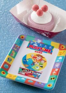 Blueberry Cheesecake with Souvenir Plate Pixar Playtime Menu 2020