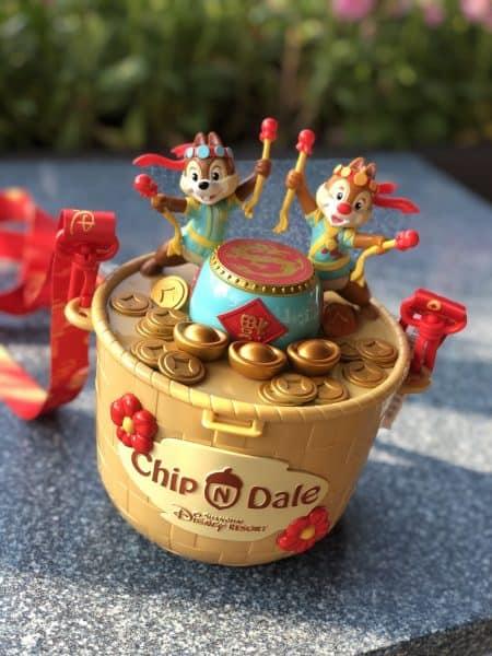 Chip n Dale Chinese New Year Popcorn Bucket Shanghai Disneyland