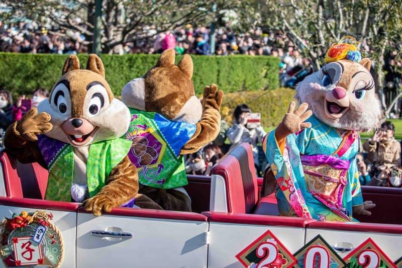 Chip n Dale Clarice New Years 2020 Tokyo Disneyland