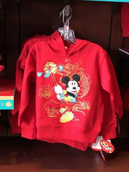 Mickey Hoodie Chinese New Year 2020 Shanghai Disneyland