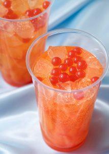 Orange and Strawberry Sparkling Drink Pixar Playtime Menu 2020