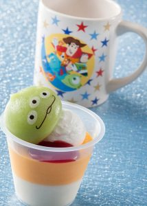 Orange and White Chocolate Dessert with Souvenir Cup Pixar Playtime Menu 2020