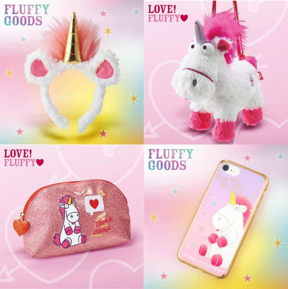 Despicable Me Fluffy Unicorn Merchandise