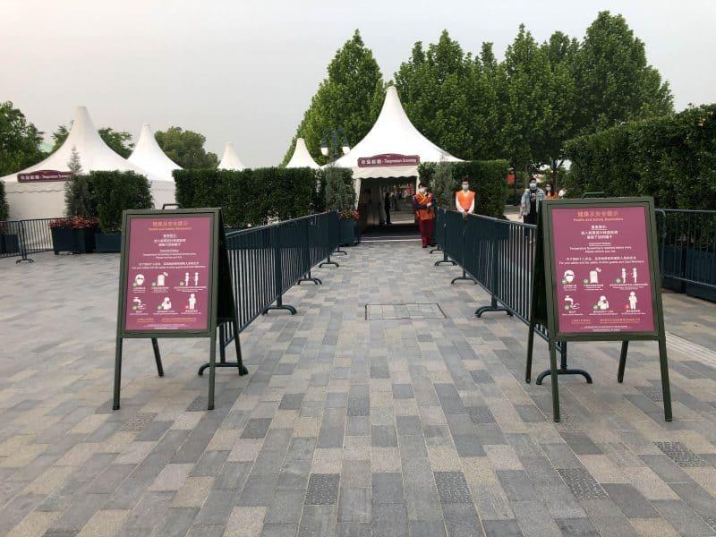 Shanghai Disneyland Temperature Check Tent