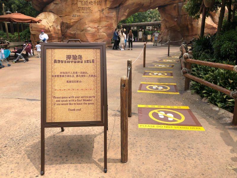 Soaring Social Distance Queue at Shanghai Disneyland