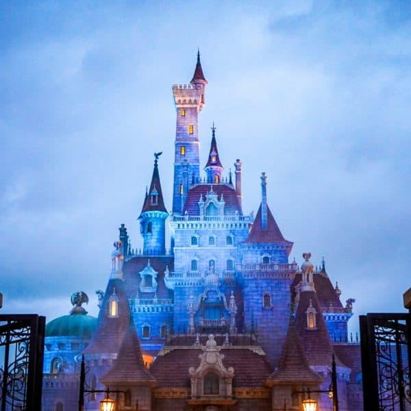 Enchanted Tale of Beauty and the Beast Tokyo Disneyland Dusk