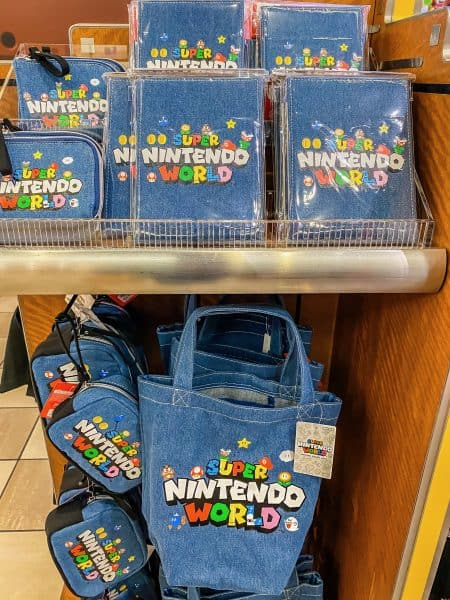 Super Nintendo World Denim Logo Merch