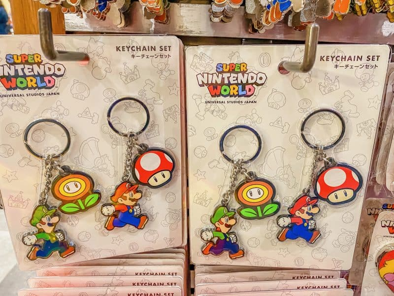 Super Nintendo World Keychain Set