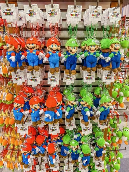 Super Nintendo World Plush Keychains
