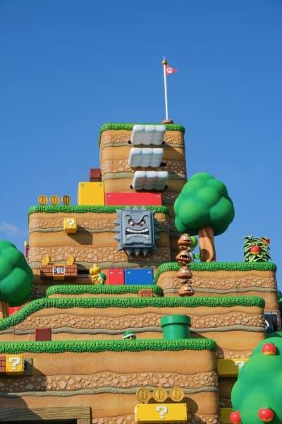 Super Nintendo World Photos - Beanpole Mountain