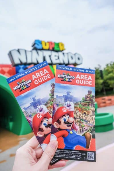 Super Nintendo World Area Guide Map