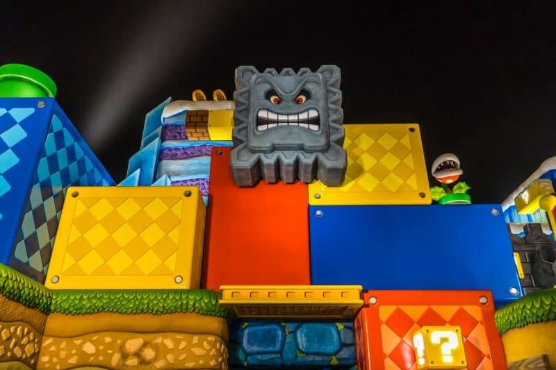 Super Nintendo World Exterior Night