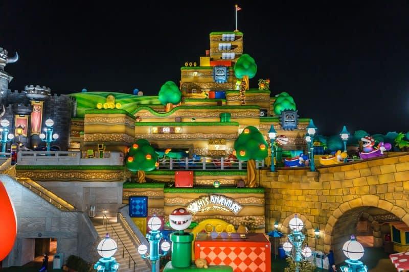 Super Nintendo World at Night