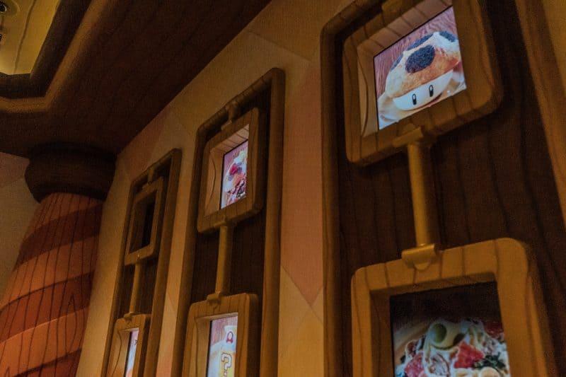 Super Nintendo World Kinopios Cafe Menu Board