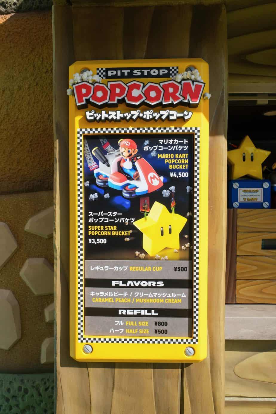 Super Nintendo World Popcorn Bucket Signage