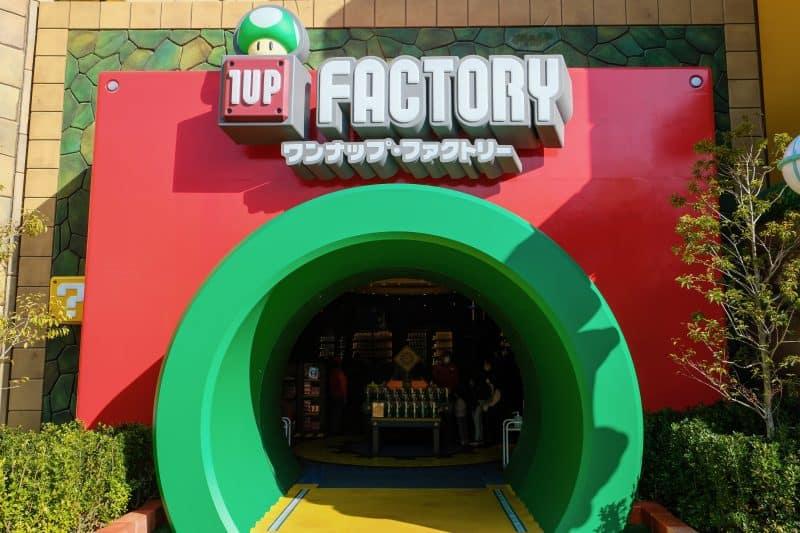 1UP Factory Merchandise Shop at Super Nintendo World