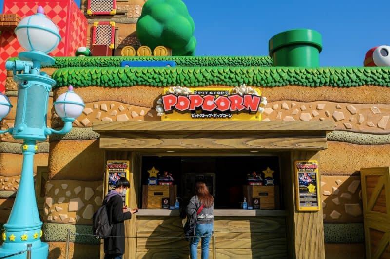 Super Nintendo World Popcorn Stand
